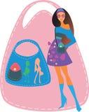 Девушка с мешком Стоковые Изображения
