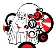 Девушка с графическими элементами Стоковое Фото