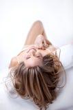 Девушка с длинними волосами Стоковое Фото