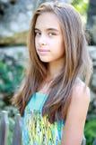 Девушка с длинними волосами Стоковое Изображение