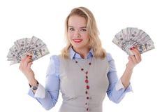 Девушка с деньгами Стоковая Фотография RF