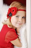 Девушка с держателем цветка Стоковое Изображение