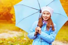 Девушка с зонтиком Стоковая Фотография