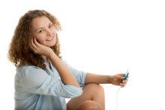 Девушка с игроком Стоковая Фотография RF