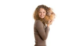 Девушка с игрушкой Стоковое Изображение
