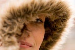 девушка с капюшоном Стоковые Фотографии RF
