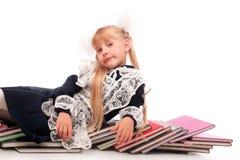 Девушка с книгами Стоковое Изображение