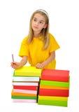 Девушка с книгами Стоковое фото RF