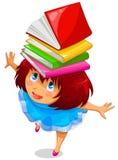 Девушка с книгами Стоковые Фотографии RF