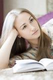 Девушка с книгой стоковое фото rf