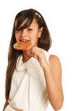 Девушка с конфетой Стоковые Фотографии RF