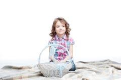 Девушка с корзиной Стоковое фото RF