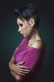 Девушка с красивым стилем причёсок. стоковые изображения rf