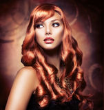 Девушка с красными волосами Стоковая Фотография RF