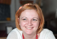 Девушка с красными волосами Стоковые Изображения RF