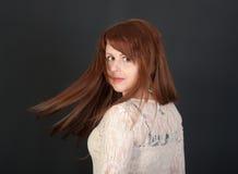 Девушка с красными волосами Стоковые Фотографии RF