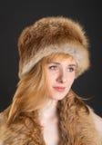 Девушка с красными волосами Стоковое Фото