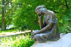 Девушка с кувшином, Россия фонтана Стоковая Фотография RF