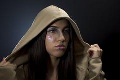 Девушка с клобуком Стоковые Изображения RF