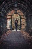Девушка с листьями Стоковые Фотографии RF