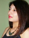 Девушка с ожерельем Стоковое фото RF