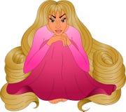 Девушка с очень длинными светлыми волосами Стоковая Фотография RF