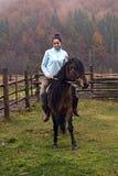 Девушка с лошадью Стоковое фото RF