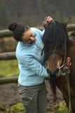 Девушка с лошадью Стоковое Фото