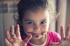 Девушка с пакостным ртом Стоковые Изображения