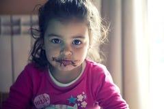 Девушка с пакостным ртом Стоковое Изображение