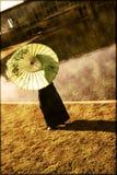 Девушка с парасолем Стоковое Фото