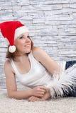 Девушка с пером Стоковое Фото