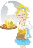 Девушка с пивом Стоковое Изображение RF