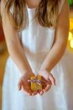 Девушка с подарками рождества Стоковое Изображение
