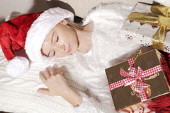 Девушка с подарками Стоковое Фото