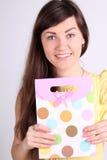 Девушка с подарком Стоковое фото RF