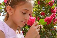 Девушка с подняла Стоковое Изображение RF