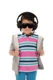 Девушка с предохранением от защитного оборудования и уха Стоковое Изображение