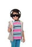 Девушка с предохранением от защитного оборудования и уха Стоковое фото RF
