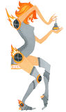Девушка с проблемой joints-3 Стоковая Фотография RF