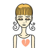 Девушка с разбитым сердцем Стоковые Фото