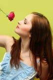 Девушка с розой Стоковые Изображения RF