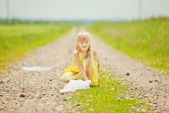 Девушка с сетью бабочки Стоковые Фото