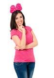 Девушка с смычком Стоковые Фото