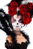 Девушка с составом в стиле хеллоуина Стоковые Изображения RF