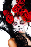 Девушка с составом в стиле хеллоуина Стоковое Фото