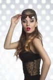 Девушка с солнечными очками моды Стоковое фото RF