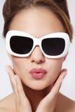 Девушка с солнечными очками Стоковые Фотографии RF