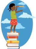 Девушка с телескопом бесплатная иллюстрация