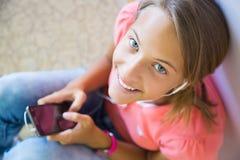 Девушка с телефоном Стоковая Фотография